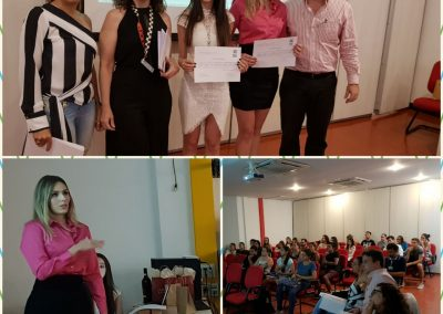 Embriologista Jane, Dra. Fernanda Rassi, Dra. Melissa, Dra. Mayana e Dr. Eduardo Camelo de Castro - Banca e alunos do trabalho de Preparo Endometrial na Fertilização in vitro com ICSI.